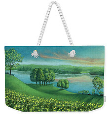 Sunset Lake A Weekender Tote Bag