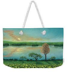 Sunset Lake B Weekender Tote Bag