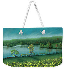 Sunset Lake C Weekender Tote Bag