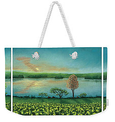 Sunset Lake Triptych Weekender Tote Bag