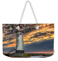 Sunset Lighthouse Weekender Tote Bag