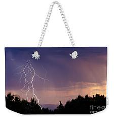 Sunset Lightning Weekender Tote Bag
