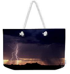 Sunset Lightning-signed Weekender Tote Bag