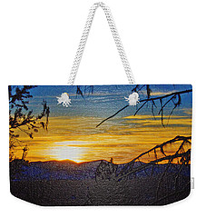 Weekender Tote Bag featuring the photograph Sunset Mountain To Mountain by Janie Johnson