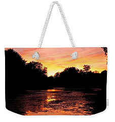 Weekender Tote Bag featuring the photograph Sunset Near Rosemere - Qc by Juergen Weiss