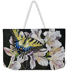 Sunset On A Swallowtail Weekender Tote Bag by Phyllis Beiser