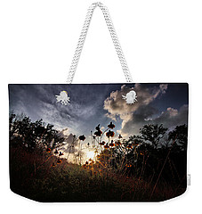 Sunset On Daisy Weekender Tote Bag by Linda Unger