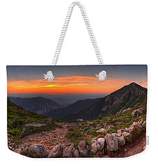 Sunset On Franconia Ridge Weekender Tote Bag