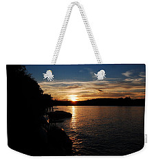 Sunset On Halfmoon Weekender Tote Bag by Mim White