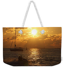 Weekender Tote Bag featuring the photograph Sunset Over Key West by Christiane Schulze Art And Photography