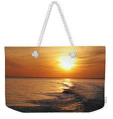 Weekender Tote Bag featuring the photograph Sunset On Long Island Sound by Karen Silvestri