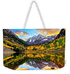 Sunset On Maroon Bells Weekender Tote Bag