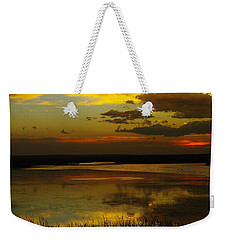 Sunset On Medicine Lake Weekender Tote Bag