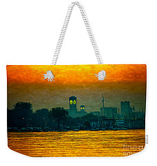Sunset On Milwaukee's South Side  Weekender Tote Bag