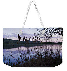 Sunset On Rockland Lake - New York Weekender Tote Bag by Jerry Cowart
