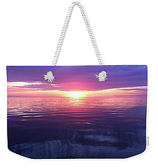 Weekender Tote Bag featuring the photograph Sunset On The Bay by Tiffany Erdman