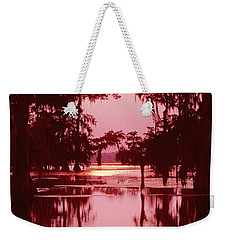Weekender Tote Bag featuring the photograph Sunset On The Bayou Atchafalaya Basin Louisiana by Dave Welling