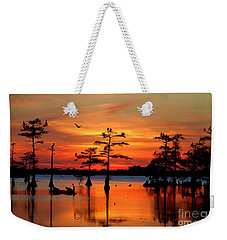 Sunset On The Bayou Weekender Tote Bag by Carey Chen