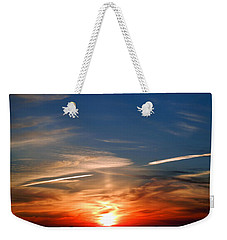 Weekender Tote Bag featuring the photograph Sunset On The Gulf Of Mexico by Debra Martz