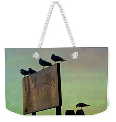 Sunset On The Sign Weekender Tote Bag