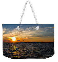 Weekender Tote Bag featuring the photograph Sunset On The Water In Provincetown by Eleanor Abramson
