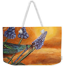 Summer Sunset Over A Dragonfly Weekender Tote Bag