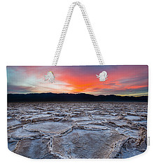 Sunset Over Badwater Weekender Tote Bag
