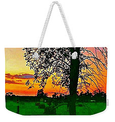 Sunset Over M-33 Weekender Tote Bag by Daniel Thompson