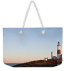 Sunset Over Montauk Lighthouse Weekender Tote Bag