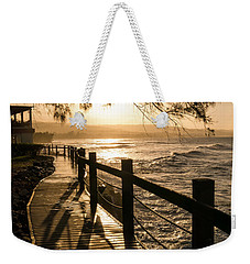 Sunset Over Ocean Walkway Weekender Tote Bag