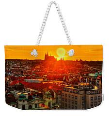 Sunset Over Prague Weekender Tote Bag