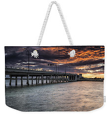 Sunset Over The Drawbridge Weekender Tote Bag