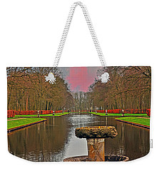 Sunset Over The Garden Weekender Tote Bag