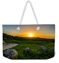 Sunset Over The Judean Hills Weekender Tote Bag