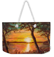 Sunset Over The Lake Weekender Tote Bag by Martin Capek
