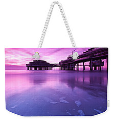 Sunset Over The Pier Weekender Tote Bag by Mihai Andritoiu