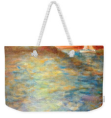 Sunset Over The Sea. Weekender Tote Bag