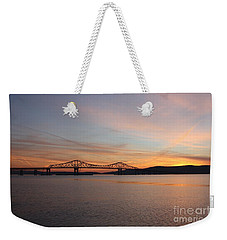 Sunset Over The Tappan Zee Bridge Weekender Tote Bag