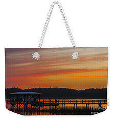 Sunset Over The Wando River Weekender Tote Bag by Dale Powell