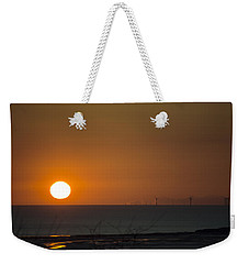 Sunset Over The Windfarm Weekender Tote Bag by Spikey Mouse Photography