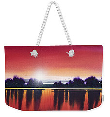 Sunset Over Two Lakes Weekender Tote Bag