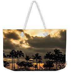 Sunset Over Waikiki Weekender Tote Bag by Angela DeFrias
