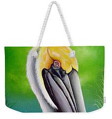 Sunset Pelican Weekender Tote Bag