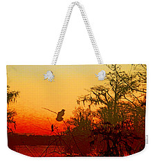 Sunset Perch Lake Martin Louisiana Weekender Tote Bag by Lizi Beard-Ward