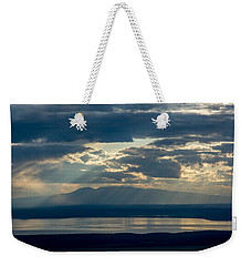 Sunset Rays Over Mount Susitna Weekender Tote Bag