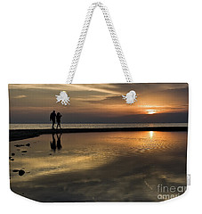 Sunset Reflection And Silhouettes Weekender Tote Bag