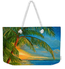 Sunset Reflections - Key West Sunset And Palm Trees Weekender Tote Bag
