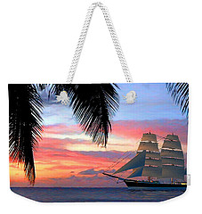 Sunset Sailboat Filtered Weekender Tote Bag