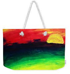 Weekender Tote Bag featuring the painting Sunset by Salman Ravish