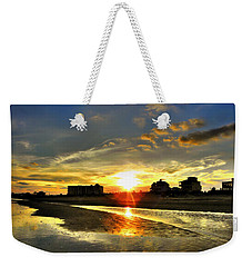 Weekender Tote Bag featuring the photograph Sunset by Savannah Gibbs